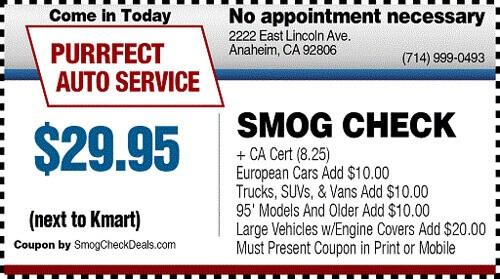 Lube Stop Near Me >> PURRFECT AUTO SERVICE 2222 E. Lincoln Ave. Anaheim, CA 92806 - Smog Check Near Me - Orange ...